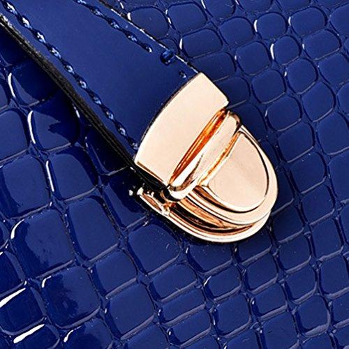 6pcs à Sac Main en Bandoulière Mode Card Holder Purse Set Cuir de en à Main Luxe PU Kairuun de Sac Bleu Sac Uqx4USv