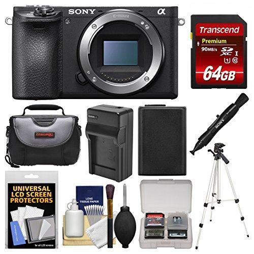 Sony Alpha A6500 4K Wi-Fi Digital Camera Body with 64GB Card
