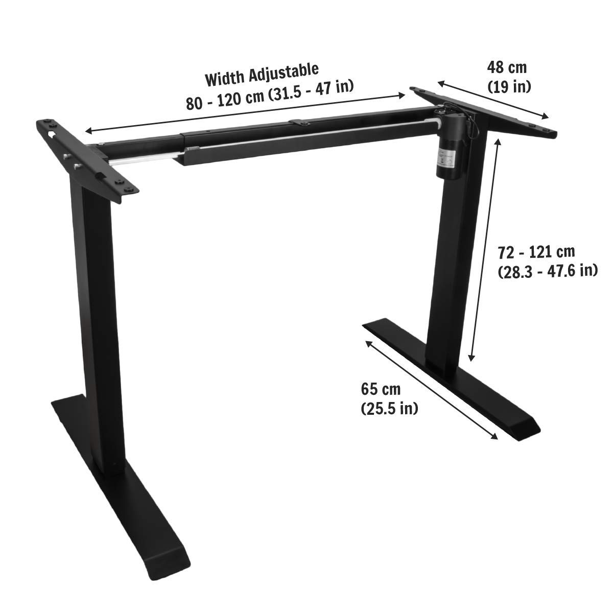 AnthroDesk Sit to Stand Electric Adjustable Height Standing Desk with Easy  Up/Down Controls (Black)