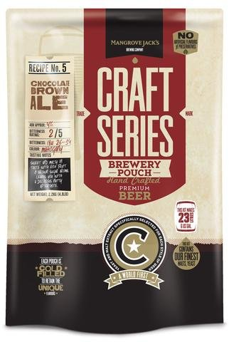 BEER KIT CHOCOLATE BROWN ALE RECIPE #5 MANGROVE JACKS CRAFT SERIES BREWERY - Jack Mangrove
