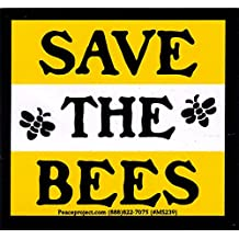 """Save The Bees - Magnetic Bumper Sticker / Decal Magnet (3.25"""" X 3"""")"""