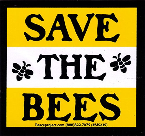 Save The Bees - Bumper Sticker / Decal (3.25