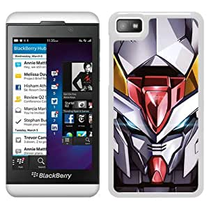 Fashionable Custom Designed Cover Case For Blackberry Z10 With Gundam White Phone Case