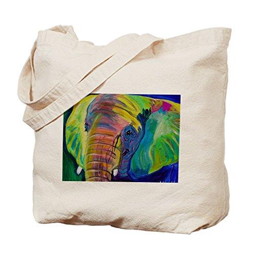 CafePress–Gamuza de bolsa de lona bolsa, bolsa de la compra, diseño de elefante