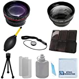 Vivitar 58mm 0.43x Wide Angle Lens + 2.2x Telephoto Lens with Deluxe Lens Accessories Kit for Samsung NX2000 with 18-55mm Lens, NX300 with 18-55mm Lens & Galaxy NX with 18-55mm Lens and Other Models.