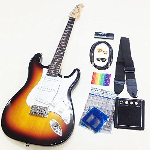 エレキギター 初心者入門セット スーパーベーシックセット Legend LST-Z ストラトタイプ 3TS [98765] B00DM3N0FY 3TS 3トーンサンバースト