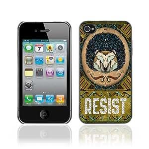 Designer Depo Hard Protection Case for Apple iPhone 4 4S / Cool Hedgehog Resist