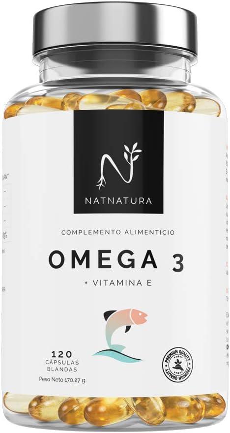 Omega 3+Vitamina E. Alta dosis de ácidos grasos Omega 3, 2000mg.Alta concentración de EPA–DHA.Efecto antiinflamatorio y antioxidante. Complemento alimenticio a base de aceite de pescado. 120 cápsulas.