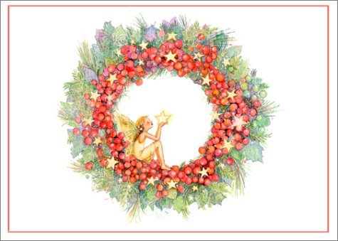 Fairy in Holly Wreath (Holiday Cards)
