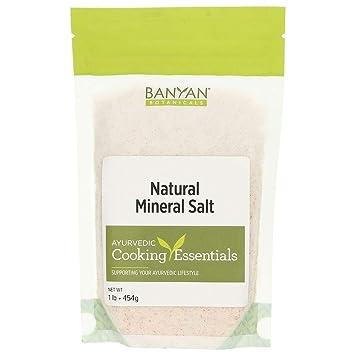 Banyan Botanicals Salt, Natural Mineral, 1 lb - Rock Salt - Stimulates digestion and