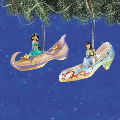 The Bradford Exchange Disney Once Upon a Slipper Ornament Set #4 Jasmine and (Bradford Collectible Ornaments)