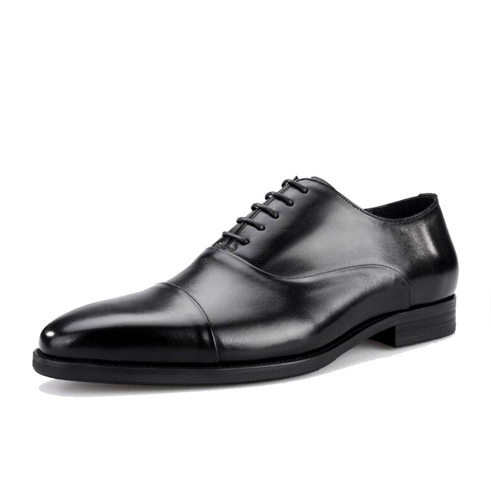 Three-Joint Herrenschuhe - High-End-Herren Lederschuhe - Lace up Größe Formale Business-Schuhe. Vier Jahreszeiten Größe up 6-12 Schwarz af0aab