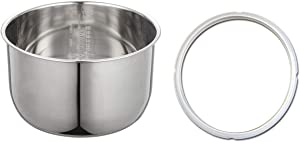 10 Quart Combo: Stainless Steel Inner Cooking Pot and Compatible Rubber Gasket. The pot and gasket are not created or sold by Power Cooker.