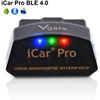 vgate iCar Pro Bluetooth 4.0 (BLE) OBD2 Fault Code Reader OBDII Code Scanner Car Check Engine Light iOS iPhone iPad…