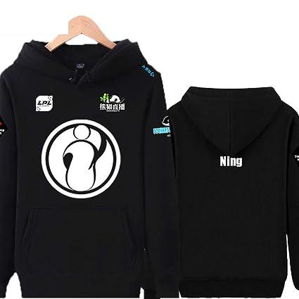 RNGDJSBP Sudadera Ig Team Jacket Plus Uniforme de Terciopelo Hombres y Mujeres Lpl2018 Ropa de Competencia