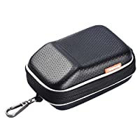 ALLCACA Compact Digital Camera Case Shock Resistant Digital Camera Bag Hard Digital Camera Carrying Case with Grid Pocket, Suitable for Small-sized Digital Camera, Black by ALLCACA
