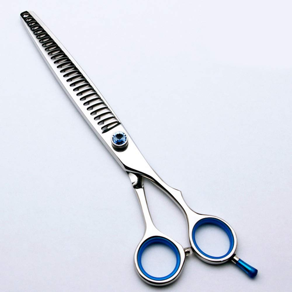 70T Ysprings Pet Scissors, Dog Hair Trimmer, Big Tooth Scissors, Fish Bone 7.5 Inch Wide Tooth Scissors to Remove 50% of Hair (Edition   70T)