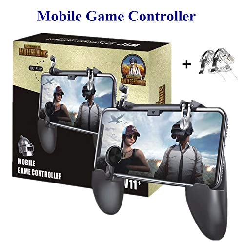 Aovon PUBG Mobile Controller [2 Triggers+5 Keychains] - 2019 Upgrade Version Sensitive L1R1 Shoot...