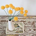 Felt-craspedia-flowers-Sunflower-yellow-wool-pom-poms-Pompom-flowers-Faux-flower-bouquet-Bright-floral-arrangement-Felt-billy-balls