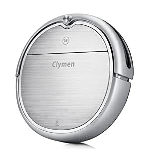 Clymen Q8 Robot Vacuum Cleaner 3 in 1 with Voice Control, Robotic Vacuum Cleaner for Pets with 2D Navigation, Connects to WiFi and Compatible with Alexa App, Adapts to Different Floors, Silver