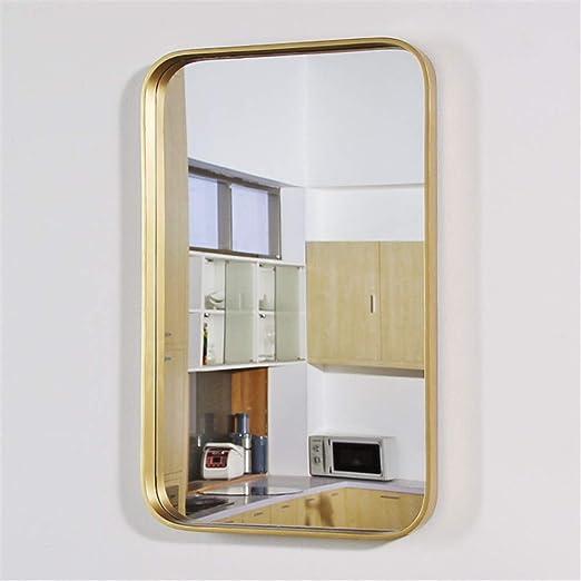Pulido espejo de pared para cuarto de baño Marco de metal ...