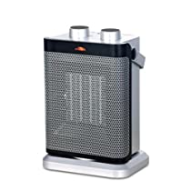 Ceramic heater with portable,Electric heater Multi-Function Remote control Adjustable Oscillation Thermostat Tabletop Under-Desk Ptc Ceramic Fast heat Bathroom waterproof-A