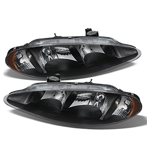 - ACANII - For Black 1998-2004 Dodge Intrepid Headlights Headlamps Replacement 98-04 Driver + Passenger Side