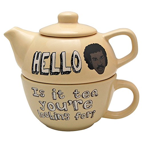 Hello Is It Tea You're Looking For? Teapot and Mug Set - Lionel Richie Classic singer