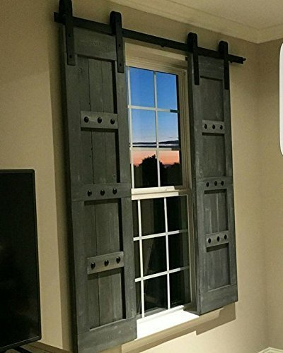 Charmant Amazon.com: Interior Barn Shutters   Interior Window Barn Door   Sliding  Shutters   Barn Door Shutters With Hardware   Farmhouse Style   Rustic Wood  ...