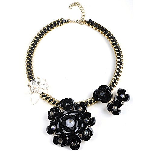 [Flake Rain Girls Delicate Magnificent Flower Blossom Metal Chain Jewelry Necklace Sweater Chain] (Homemade Flower Fairy Costume)