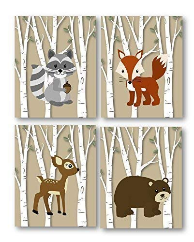 Amazon Com Woodland Nursery Woodland Art Prints Forest