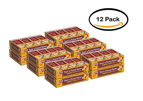 PACK OF 12 - Keebler Toast & Peanut Butter Sandwich Crackers 81.38 oz. Tray by Keebler