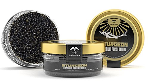 OVERNIGHT GUARANTEED! Premium STURGEON Osetra Caviar - 2oz - Wild Sturgeon Caviar