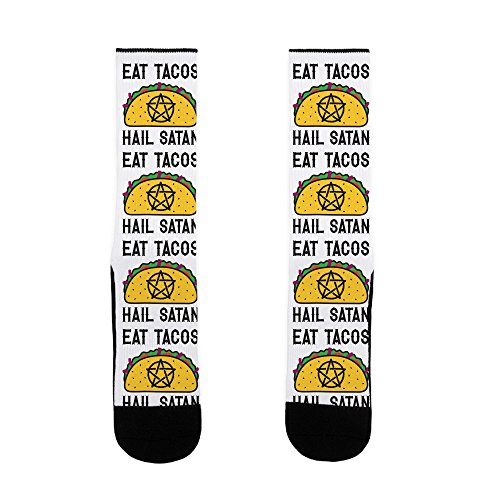 LookHUMAN Eat Tacos Hail Satan US Size 7-13 -