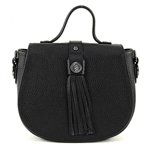 George Gina & Lucy Leather Nown Hippiho Borsa a manico nero
