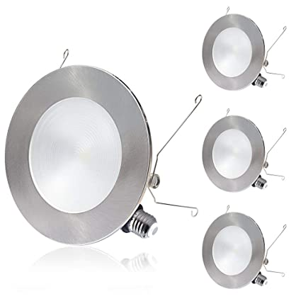 """100% authentic af7e9 4acd6 6"""" LED Recessed Lighting, 2 in 1 Trim Color Options, Tunable Warm White,  12W Dimmable LED Recessed Downlights, Slim LED Ceiling Lights, Retrofit LED  ..."""