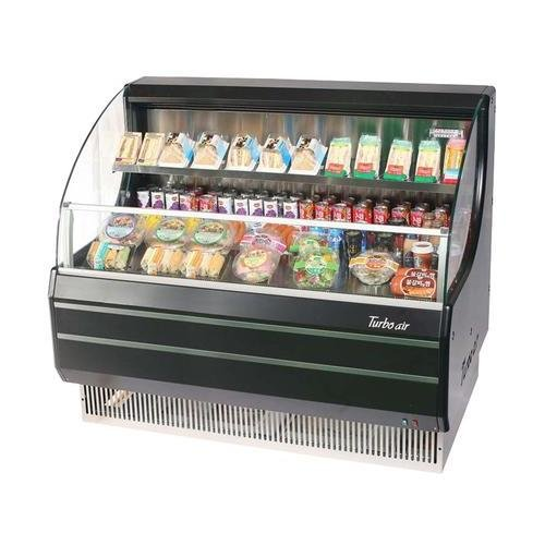 TOM50LB 50 Low Profile Display Merchandiser with Modern Design Attractive Glass Sides Environmental Friendly Refrigeration System Standard Back-Guard and Anti-Rust Coating: Black