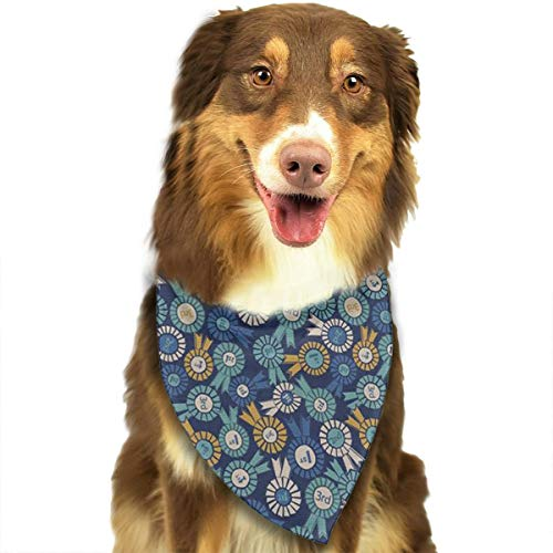 OURFASHION Medal Bandana Triangle Bibs Scarfs Accessories for Pet Cats and Puppies.Size is About 27.6x11.8 Inches (70x30cm).]()