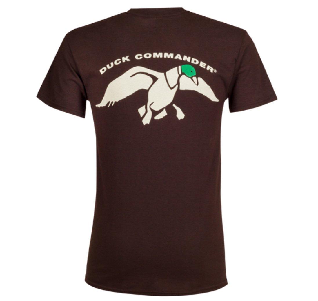Duck Commander Logo Green Duck Head Shirt Brown Medium Big Rock Sports DCSHIRTBR-M