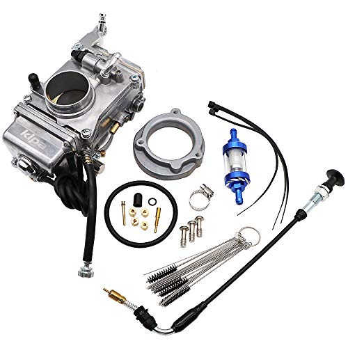 KIPA Carburetor For Mikuni HSR42 HSR 42mm Fit Harley Evo Evolution Twin Cam Glide Dyna Super Wide Lower Rider Disc Glide Fatboy Heritage Softail Night Train Road King