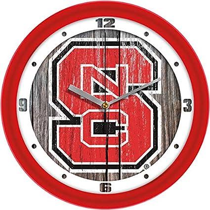 University of North Carolina UNC Tar Heels 12 inch Round Wall Clock Throwback Logo