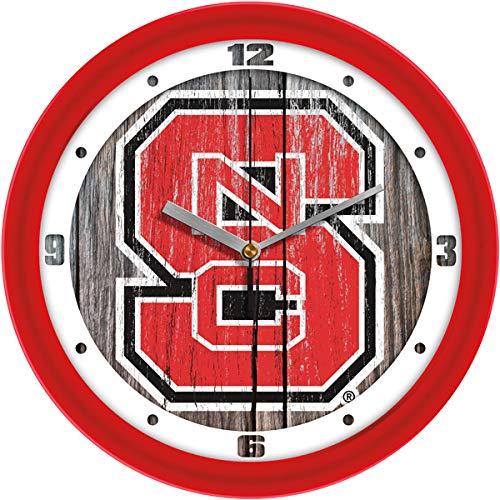(SunTime North Carolina State Wolfpack - Weathered Wood Wall Clock)
