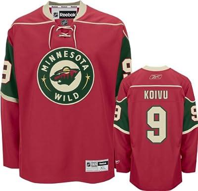 Mikko Koivu Jersey: Reebok Red #9 Minnesota Wild Premier Jersey