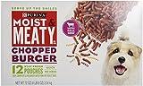 Purina Moist & Meaty Dog Food, Chopped Burger, 12 Pouches, 6 oz each