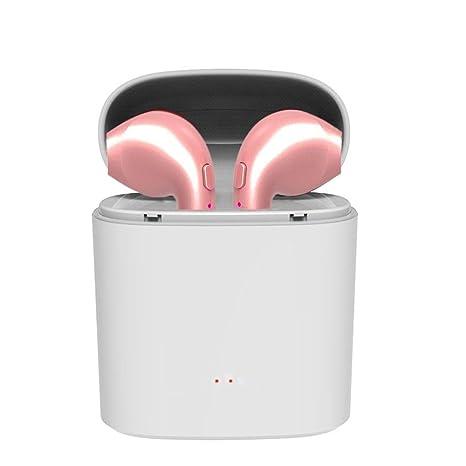 Cewaal Auriculares estéreo inalámbricos, i7S TWS Bluetooth intrauditivos, Cancelación de ruido, Micrófono incorporado