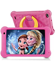 $69 » Surfans Kids Tablet, 7 inch FHD IPS Display, 2GB RAM, 32GB ROM, WiFi Android Tablets for Kids with Kids-Proof Case, Pink