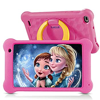Surfans Youngsters Pill, 7 inch FHD IPS Show, 2GB RAM, 32GB ROM, WiFi Android Tablets for Youngsters with Youngsters-Proof Case, Pink