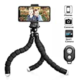 Photo : UBeesize Tripod S, Premium Phone Tripod, Flexible Tripod with Wireless Remote Shutter for iPhone & Android, Mini Tripod Stand Holder for Camera and GoPro (Upgraded)