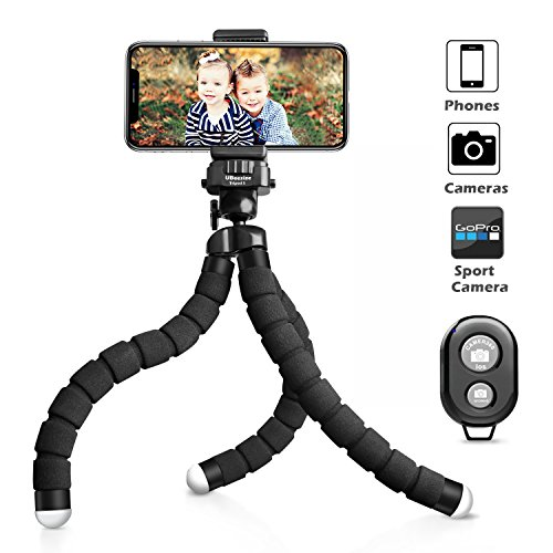 UBeesize Tripod S, Premium Phone Tripod, Flexible Tripod with Wireless Remote Shutter for iPhone & Android, Mini Tripod Stand Holder for Camera and GoPro (Upgraded) (Tighten-up Issue Fixed)