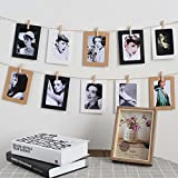 iPhyhe Paper Photo Frame Set with String for Instant Camera (10psc Brown Paper)